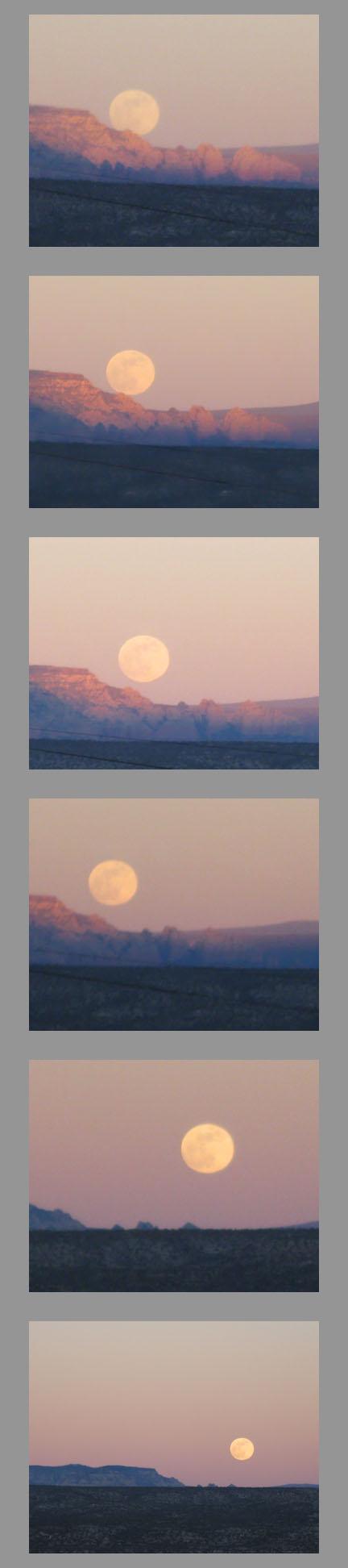 Jerome AZ Full Moon rise