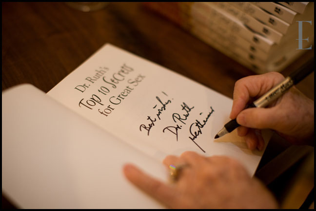 Dr Ruth book signing