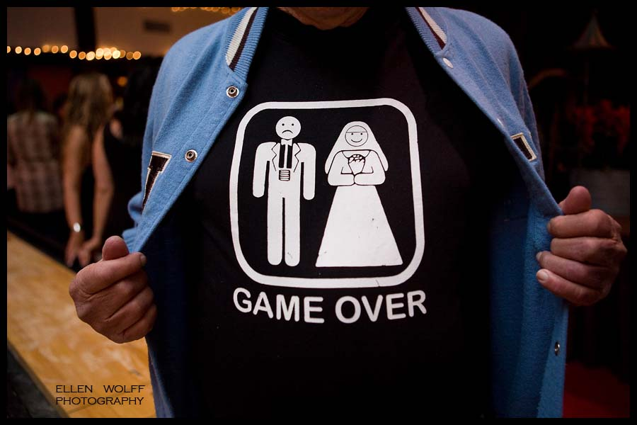 "Bride and groom ""game over"" t shirt"