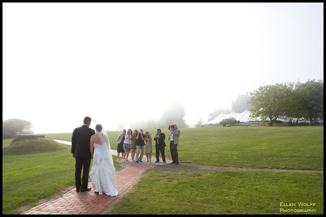bridal couple family paparazzi