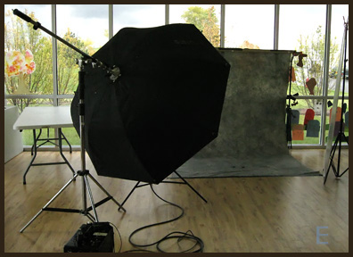 set up for portraits