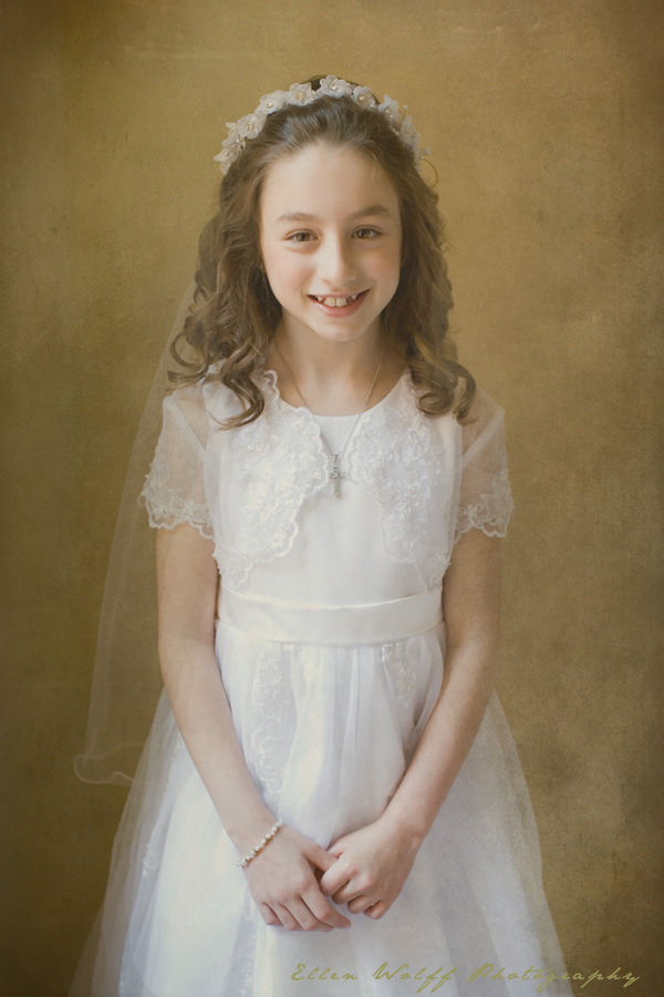 One official communion portrait of Gianna