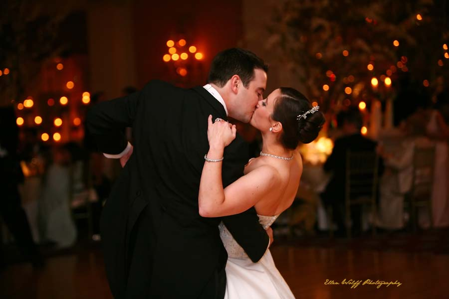 ballroom dancing with a kiss
