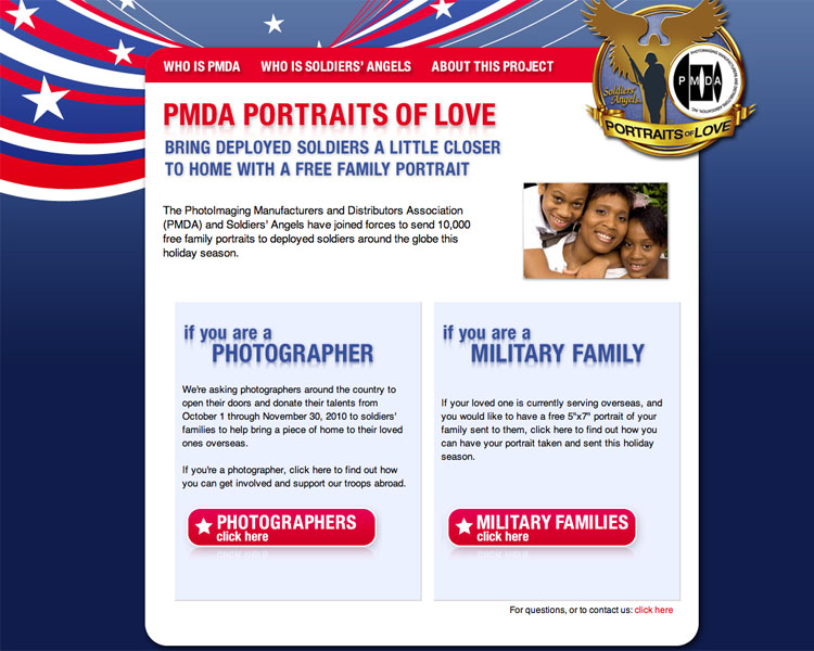 PMDA Soldiers Angels homepage graphic