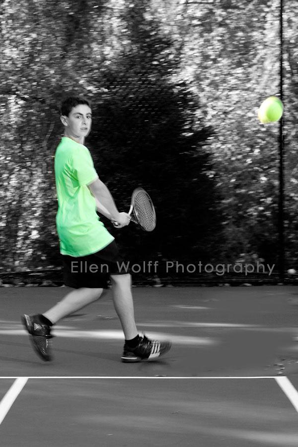 Alex hitting tennis balls for me