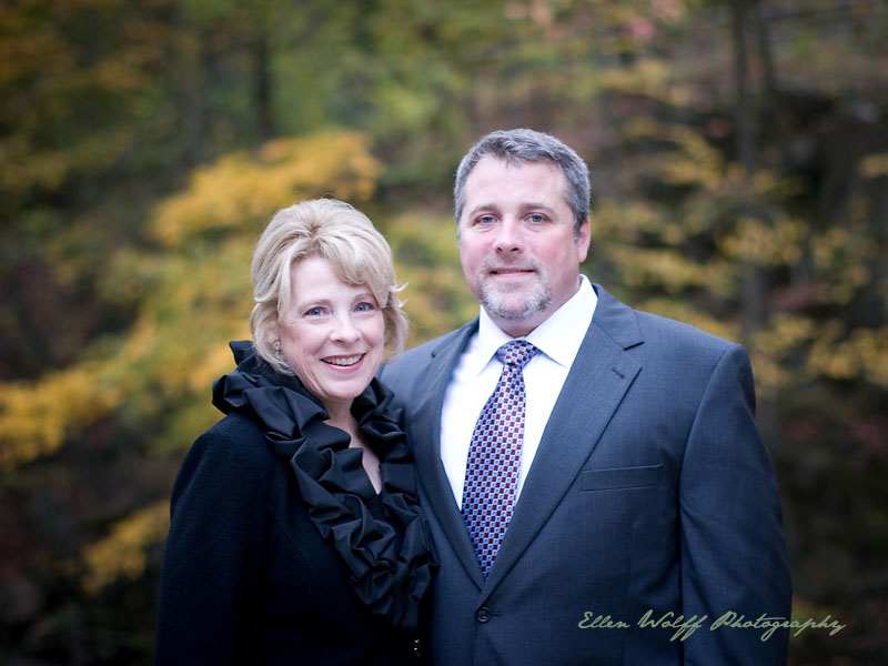 mother and son outdoor Fall portrait at Stone Mill NY Botanical Garden
