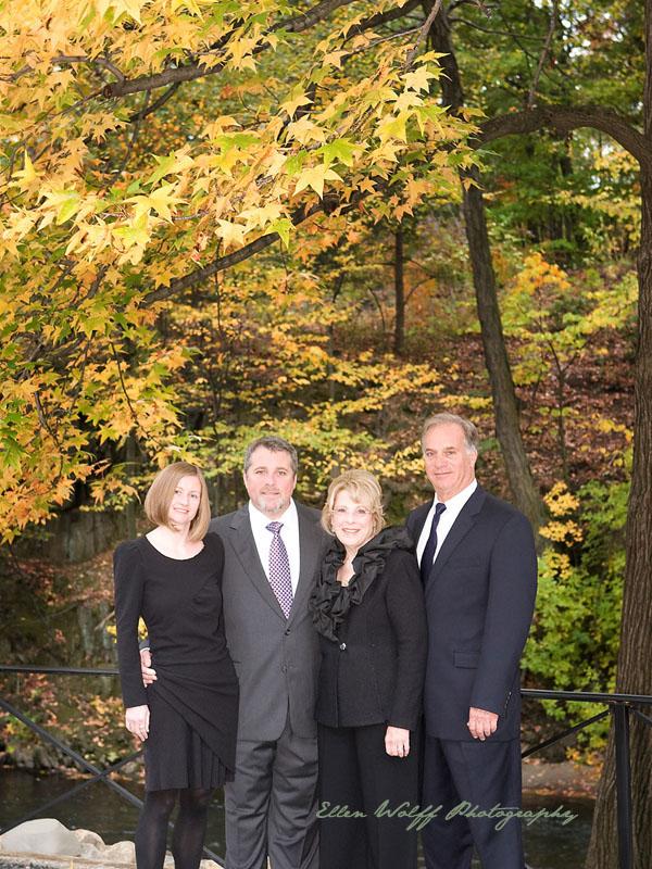 gorgeous Fall foliage as a backdrop to family photos