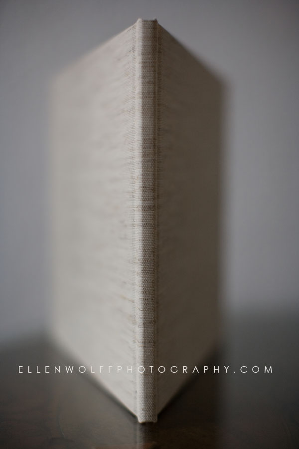 Oatmeal linen photo book