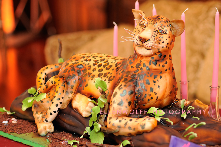 the awesome leopard Bat Mitzvah cake