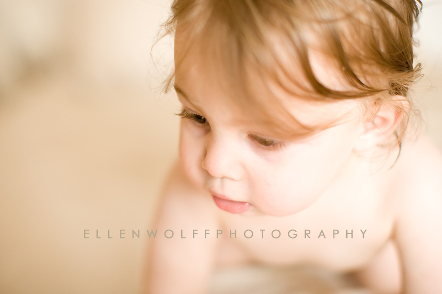 natural window light portrait of young child