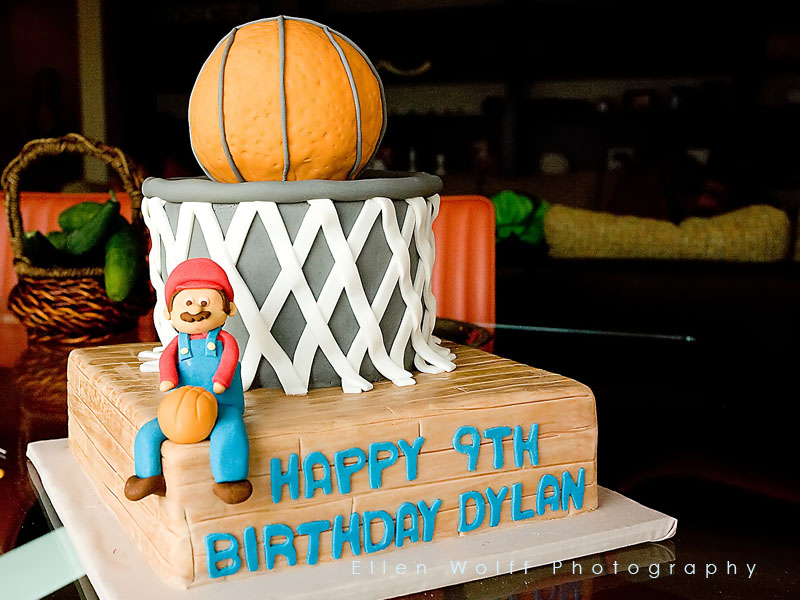 a basketball super mario custom birthday cake