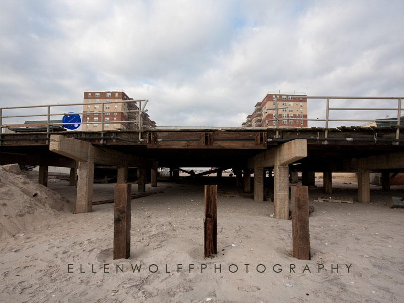 location of missing staircase along the boardwalk Rockaway Beach after Sandy