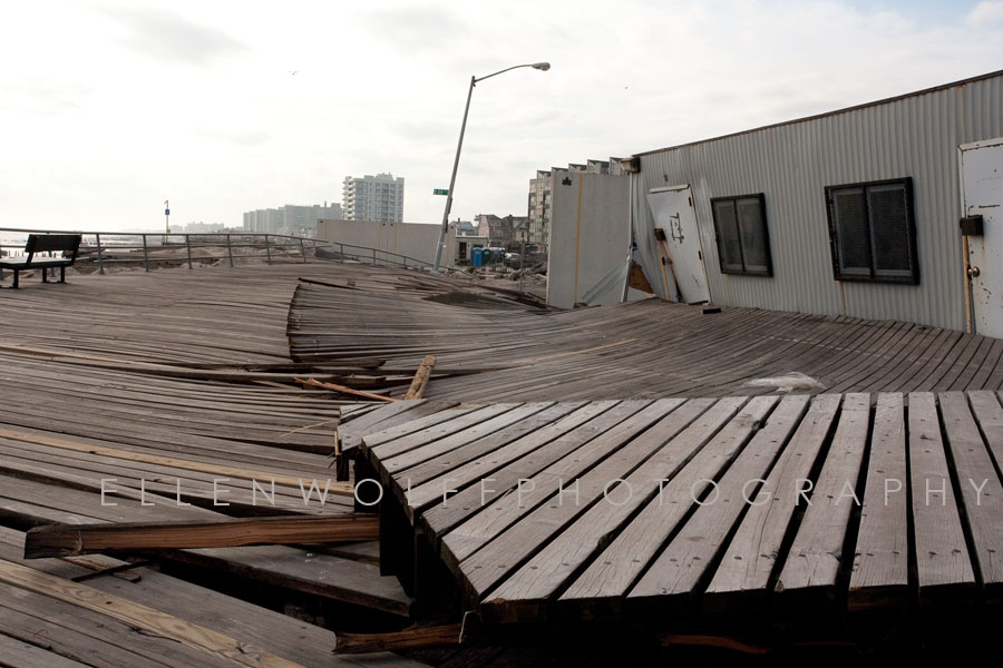 BOARDWALK DESTRUCTION BY HURRICANE SANDY near Beach 86th St