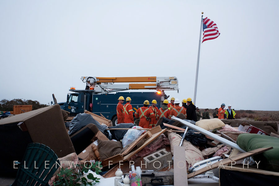 Hydro Quebec helping in Breezy Point after Hurricane Sandy