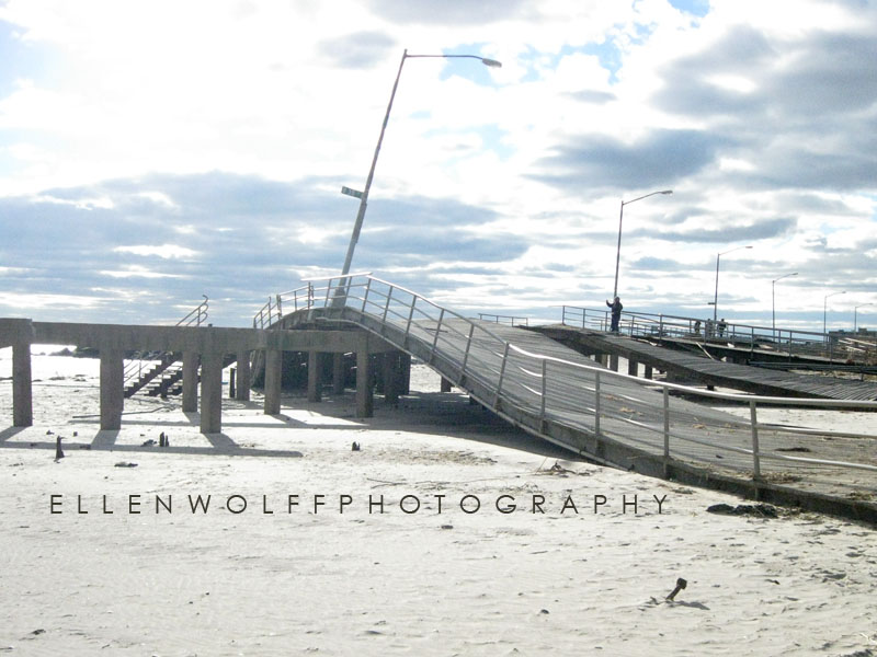 the Rockaway boardwalk after hurricane Sandy