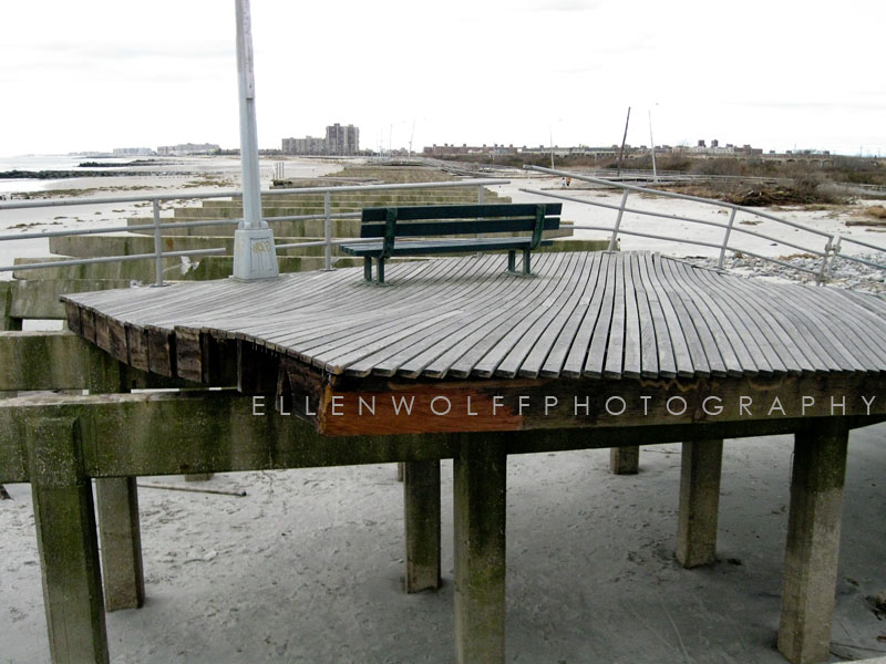large sections of boardwalk were dislocated