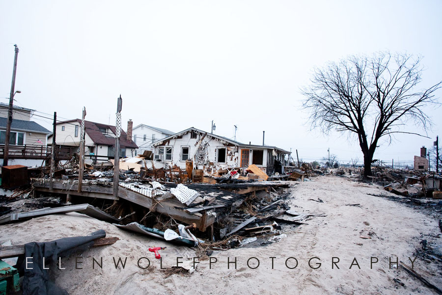 damage from the fire in Breezy point NY during superstorm Sandy