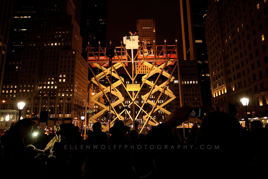 Surprise engagement in NYC Grand Army Plaza during the 8th night of Channukah
