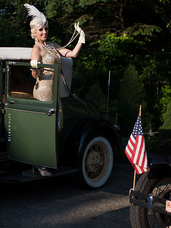 vintage autos create a gatsby theme for July 4th
