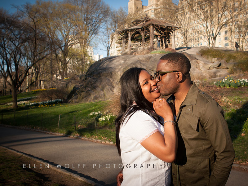 casual  engagement portrait  in Central Park NYC