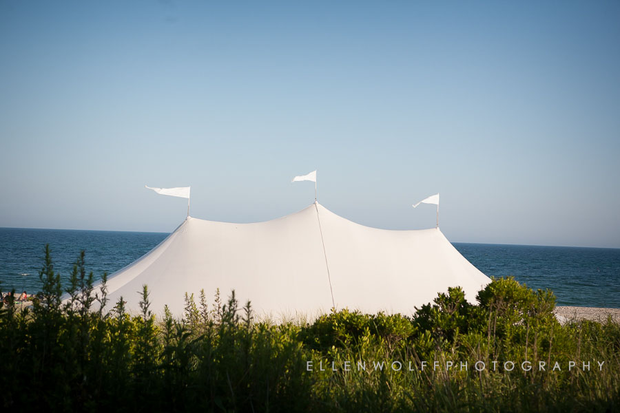 sperry tent on Bridgehampton beach