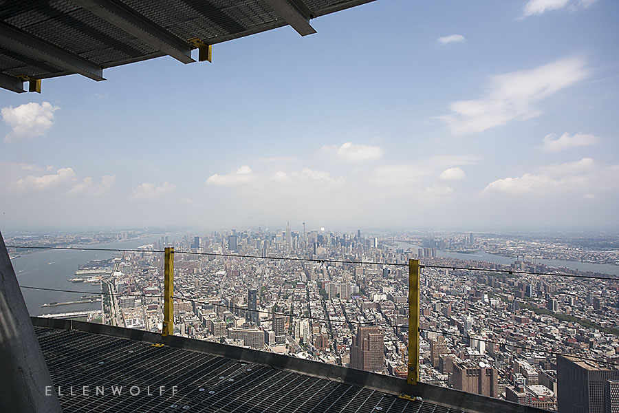Photographed from the outdoor decks on top of One World Trade Center.