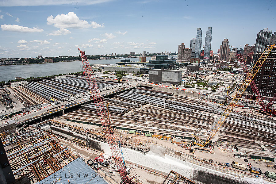 Aerial view of Hudson Yards July 2014